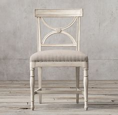 RH's 18th C. Gustavian X-Back Fabric Side Chair:Simplicity and grace are the hallmarks of Swedish Gustavian design, a pared-down take on the more ornate French styles popular at the end of the 18th century. These chairs capture that charm with intricately carved details and softly weathered finishes.