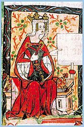 The Empress Matilda -- the woman who should have been the first Queen of England in her own right. She became the sole heir of Henry I when her brother died in the White Ship disaster. But her cousin Stephen snatched the throne before she could return to England to be crowned. Many English nobles refused to support a woman, despite her superior claim. But she wouldn't go away quietly, and the result was years of civil war. She is known as Empress because her first marriage was to the Holy…
