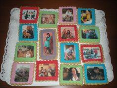 Collage de fotos de toda la familia, para el cumple de su padre!!