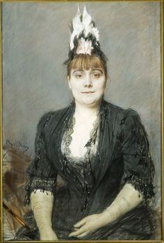Portrait of a Lady by Giovanni Boldini (Italian 1842-1931)