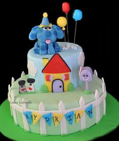 Blue's Clues Cake 4th Birthday Parties, 3rd Birthday, Birthday Ideas, Cakes For Boys, Kid Cakes, Clue Party, Blues Clues, Pretty Cakes, Cake Pans