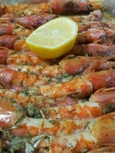 Las recetas de Maria Antonia: Langostinos al horno ༺✿ƬⱤღ  http://www.pinterest.com/teretegui/✿༻