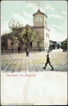 Izmir, Station before the fire in postcards - Carina History Of Photography, Fashion Photography, Ottoman Empire, Home Fashion, Vintage Photos, Istanbul, Nostalgia, Old Things, Street View