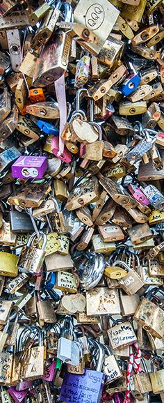 July 2015 Desktop Wallpaper - This month's image is of love locks on the Pont des Arts in Paris, France.