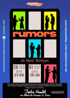 "TG Musical e Teatro in Italia: Al Teatro Hamlet ""Rumors"" di Neil Simon"