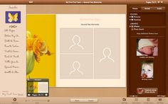 Screenshots from our new Mac App 'My First Five Years'.