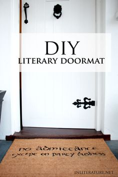 Show off your bookish style at the front door with this DIY literary doormat. Choose your own design or use the free template for a Hobbit style.