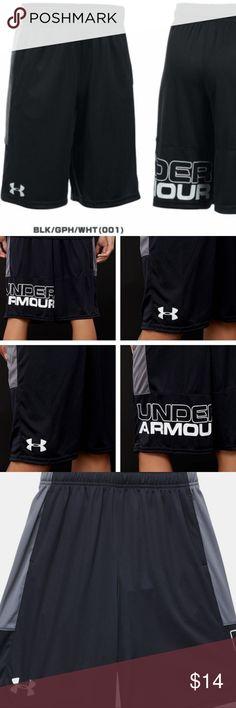 Under Armour Kids Little Boys Ultra Blue Black Anatomic Stunt Shorts