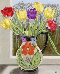 <strong>Tulips in a window</strong>