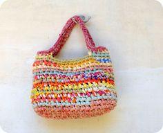 Crocheted Handbag  Yellow Pink Orange  Sweet Summer  by odpaam, $45.00
