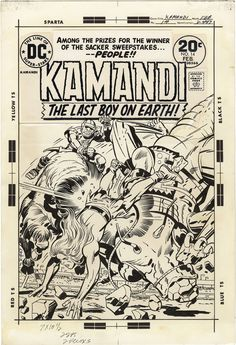 Gallery of Comic Art by Jack Kirby : Kamandi, The Last Boy on Earth, Issue 14, Cover : What if Kirby