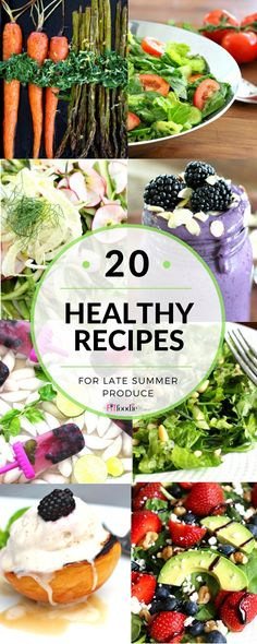 20 Healthy Meatless and Gluten Free Recipes for Late Summer Produce http://thefitfoodiemama.com/20-healthy-recipes-for-late-summer-produce/