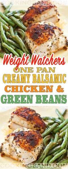 One Pan Creamy Balsamic Chicken & Green Beans | COOKING BAND