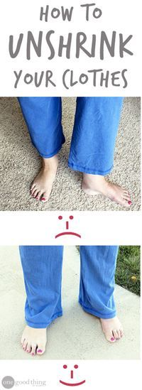 For those unfortunate accidental shrinkage incidents! You won't believe how simple it is!
