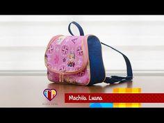 Bolsa mochila de tecido Luana - Maria Adna Ateliê - Cursos e aulas de bolsas de tecidos - YouTube