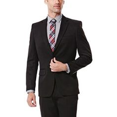 b3547d3cd5f Haggar Men s Travel Performance Tailored-Fit Suit Jacket