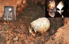 RÚSSIA: Antigo esqueleto com Crânio estranho alongado 'Alien' Desenterrado - DNA não Humano