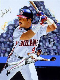 Carlos Baerga, acrylic on illustration board 16x21 by Gary Thomas