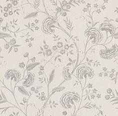 Liana Off White / Metallic Silver wallpaper by Blendworth