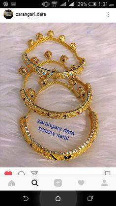 Indian Jewelry Sets, Bohemian Jewelry, Gold Jewellery Design, Gold Jewelry, Gold Bracelets, Bangles, Mehndi Art Designs, Jewerly, Blouses