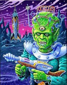 Dark Art Illustrations, Illustration Art, Advertising Pictures, Rockabilly Art, Psychedelic Drawings, Cartoon Monsters, Lowbrow Art, Monster Art, Pop Surrealism