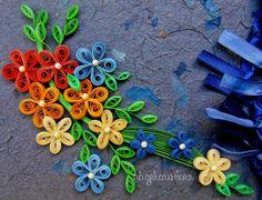 Artes de Nágela: Papel artesanal, tirinhas de quilling de 3 e 2 milímetros, fitas e pérolas. Handmade paper quilling strips of 3 and 2 mm, ribbons and pearls.