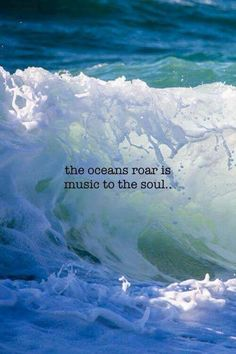 The oceans roar is music to the soul