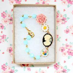 Pale Aqua Charm Bracelet by Nest Pretty Things