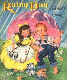 Rainy Days Vintage Coloring Book
