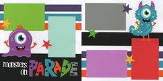 Monsters On Parade Page Kit