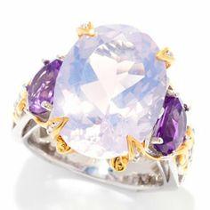 Gems en Vogue II 10.22ctw Oval Lune de France Amethyst Ring