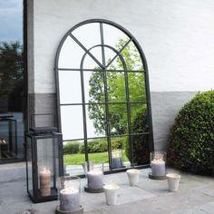 Specchio nero in metallo 92 x 135 cm   Maisons du Monde
