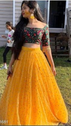 Desi Wedding Dresses, Indian Wedding Outfits, Prom Dresses, Summer Dresses, Wedding Wear, Yellow Lehenga, Silk Lehenga, Party Wear Lehenga, Bridal Lehenga