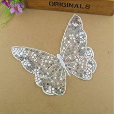 50 unidades / lote, 17 * 19,5 centímetros lindo Sew On borboleta bordado de lantejoulas laço apliques-nos remendos de Casa e Jardim sobre Aliexpress.com | Alibaba Group
