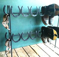 Repurposed horseshoes