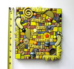 Follow Your Own Yellow Brick Road. Small Handmade by ShawnDuBois