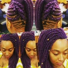 Lovely @tzipporahbraids843 Rope Twist, Passion, Purple, Hair, Viola, Strengthen Hair, African Braids