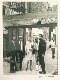 "themaninthegreenshirt: ""John Coltrane, Pharoah Sanders, Jimmy Garrison, Rashied Ali and Alice Coltrane at the Village Vanguard by Chuck Stewart """