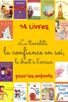 16 livres sur la confiance en soi, le droit à l'erreur, la timidité... - Maitresseuh