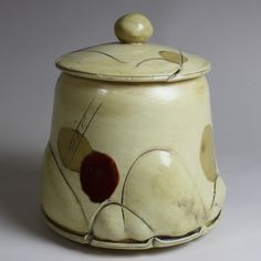Large Jar - Glen Cutcher.   One of the Eight Studio Potters of the Clay Collective.  Glen's Studio is located at 218 Spring Street in Cambridge, WI.  The studio will be open during The Clay Collective Pottery Tour on May 4 & 5, 2013. http://www.theclaycollective.org Guest Clay Artist: Ryan Myers