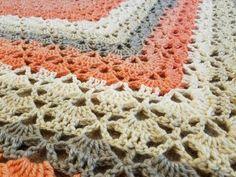 "The ""Cloister Shell Shawl"" Crochet Tutorial - YouTube Crochet Shell Stitch, Crochet Chart, Easy Crochet Patterns, Crochet Stitches, Stitch Patterns, Knit Crochet, Tutorial Crochet, Quick Crochet, Blanket Crochet"