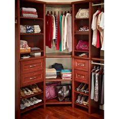 ClosetMaid Impressions 28 in. Dark Cherry Corner Shelf Kit with Trim-30805 at The Home Depot