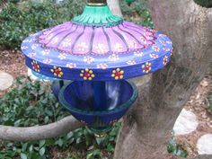 Recycled Lamp Bird Feeder