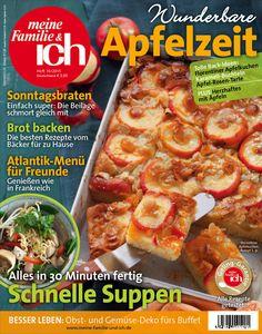 meine Familie & ich: 10/2015: Apfelzeit / Schnelle Suppen / Atlantik-Menü für Freunde / burdafood.net-Archiv/Eising Studio – Food Photo & Video, Martina Görlach http://www.burda-foodshop.de/Einzelhefte/Einzel-meine-Familie-ich/