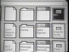 First half of a demonstration of the Xerox Star user interface from 1982.  Apple's UI was in fact an evolution of these concepts, not a 1:1 copy. The Star UI has little to no direct manipulation, nor any visual distinction for radio buttons or check boxes. In other places, such as networking and printing, the Star was many years ahead. The Star UI laid the foundation but it was not copied whole cloth as some will claim.