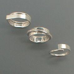 R.021. / R.022. / R.023: Zilveren ringen van plaat en draad.