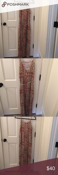 Chaser Sleeveless Maxi Dress Size medium. Adjustable straps. Slits on both sides. Tie around waist. Chaser Dresses Maxi
