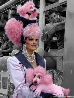 Classic older drag queen.