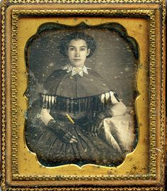 Direct Gaze Lace and Tassels 6th plate Daguerreotype by depthandtime, Flickr -- Stunning!