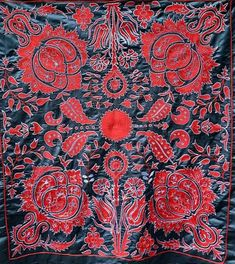 Village Drawing, American Houses, Contemporary Embroidery, Embroidery Motifs, Ikat Fabric, Fabric Strips, Wedding Night, Central Asia, Carnations